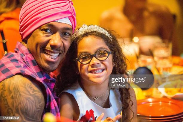 Nick Cannon and Monroe Cannon celebrate the twins birthday at Disneyland on April 30 2017 in Anaheim California