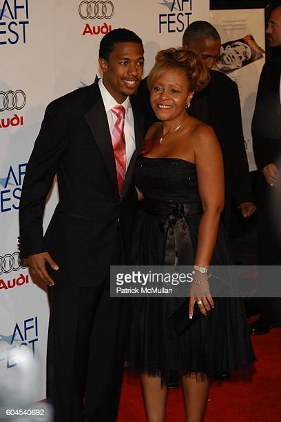 Nick Cannon and Mother attends AFI Fest 2006 Host Gala and Premiere of Emilio Estevez's Bobby at Grauman's Chinese Theater on November 1 2006 in...