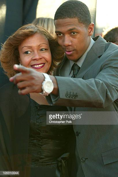 Nick Cannon and mother during 2004 Movieline Young Hollywood Awards - Red Carpet Sponsored by Hollywood Life at Avalon Hollywood in Hollywood,...