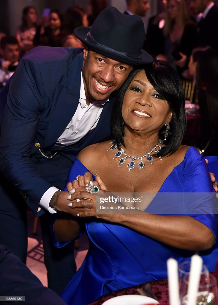 Nick Cannon and Patti LaBelle attend Angel Ball 2015 hosted by Gabrielle's Angel Foundation at Cipriani Wall Street on October 19, 2015 in New York City.