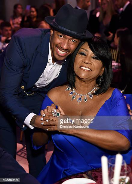 Nick Cannon and Patti LaBelle attend Angel Ball 2015 hosted by Gabrielle's Angel Foundation at Cipriani Wall Street on October 19 2015 in New York...