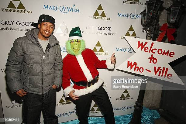 Nick Cannon and Rockit Ranch's Arturo Gomez attend The Grinch Who Gave Back Christmas to benefit MakeAWish hosted by Grey Goose at The Underground on...