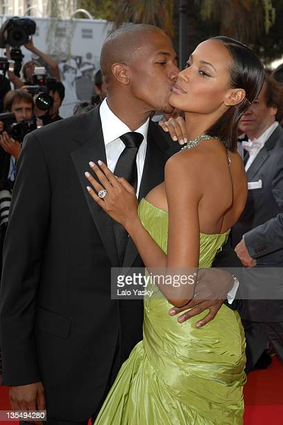 "Nick Cannon and Selita Ebanks during 2007 Cannes Film Festival - ""Promise Me This"" Premiere at Palais des Festivals in Cannes, France."