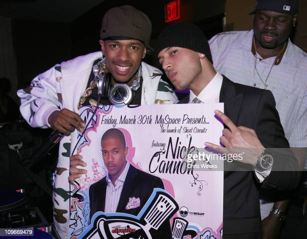 Nick Cannon and Ted Skillet during MySpacecom and Nick Cannon Host Friday Night at PURE Nightclub in Las Vegas March 31 2007 at Pure Nightclub in Las...