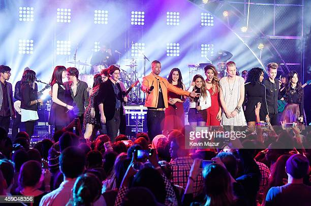 Nick Cannon appears onstage with The Vamps and Fifth Harmony at the Sixth Annual Nickelodeon HALO Awards in New York City The hourlong concert...