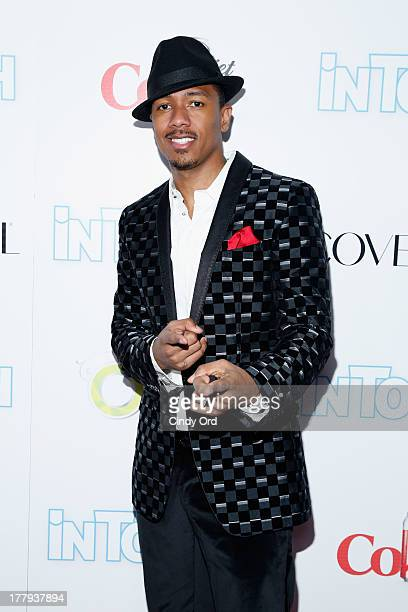 Nick Cannon arrives at Intouch Weekly's ICONS IDOLS Party at FINALE Nightclub on August 25 2013 in New York City