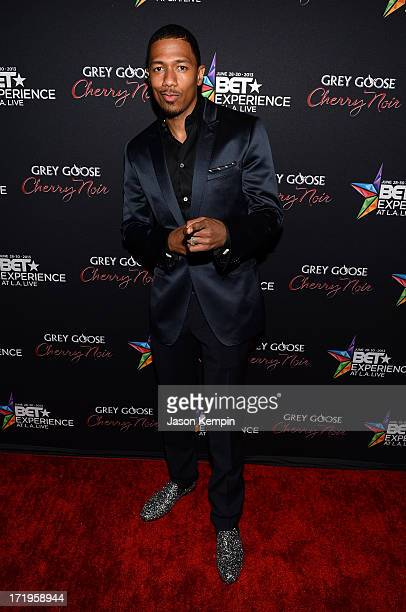 Nick Cannon arrives at the Grey Goose Cherry Noir Flavored Vodka VIP day 2 after party during the 2013 BET Experience at The Conga Room at LA Live on...