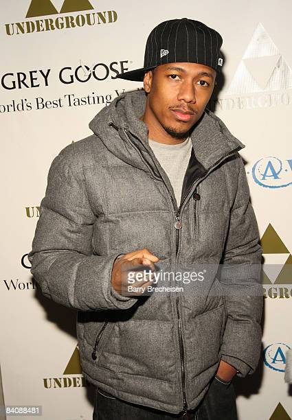 Nick Cannon arrives at The Grinch Who Gave Back Christmas to benefit MakeAWish hosted by Grey Goose at The Underground on December 18 2008 in Chicago...