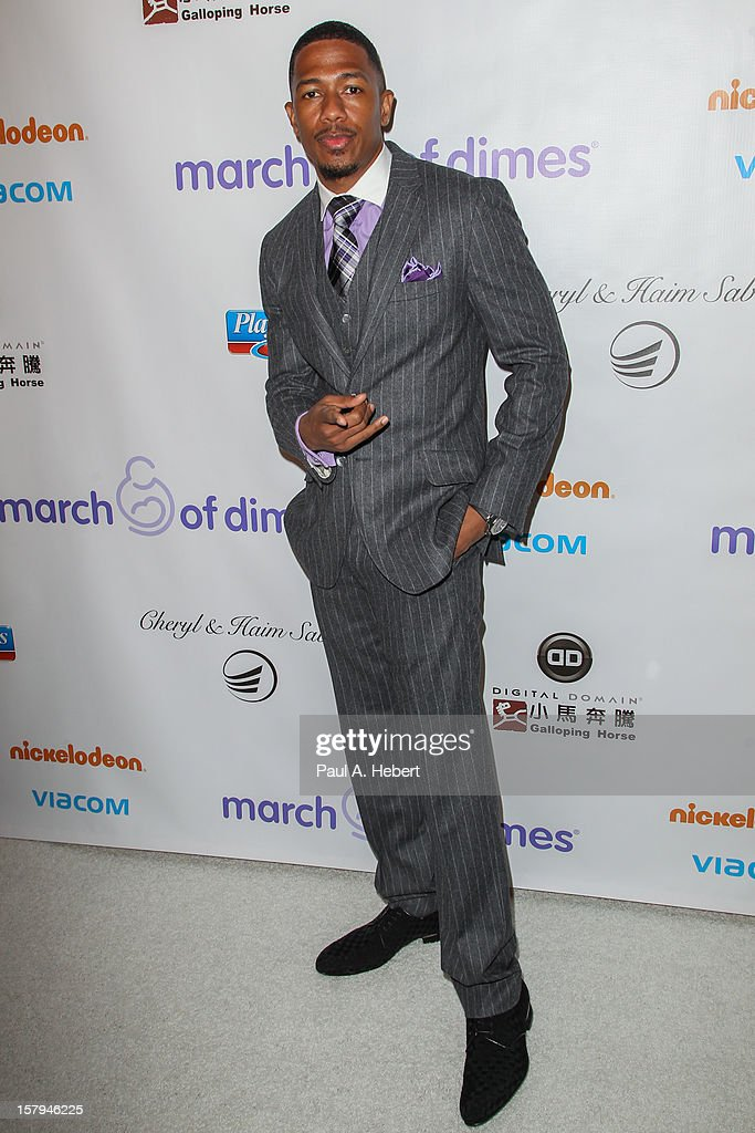 Nick Cannon arrives at the March Of Dimes' Celebration Of Babies held at the Beverly Hills Hotel on December 7, 2012 in Beverly Hills, California.