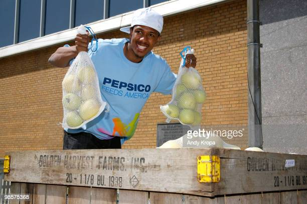 Nick Cannon attends a day of service for City Harvest at Pier 40 on April 20 2010 in New York City