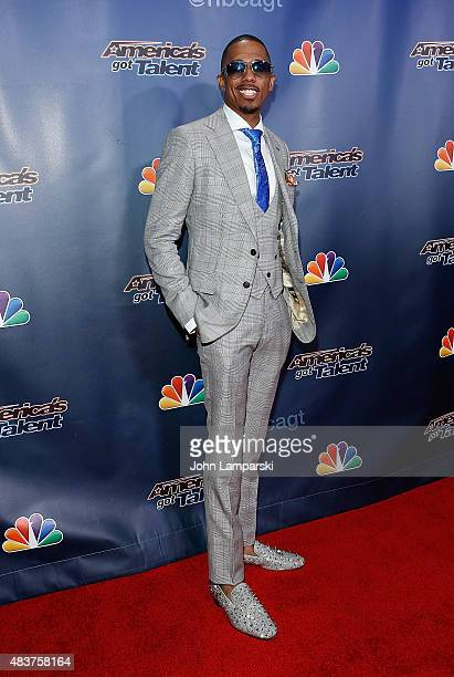 Nick Cannon attends America's Got Talent season 10 on August 12 2015 at Radio City Music Hall on August 12 2015 in New York City