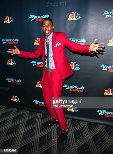 Nick Cannon attends America's Got Talent Season 8 Red Carpet Event at Radio City Music Hall on August 7 2013 in New York City