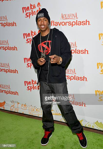 Nick Cannon attends Aquafina Launch of FlavorSplash at Sony Pictures Studios on October 15 2013 in Culver City California