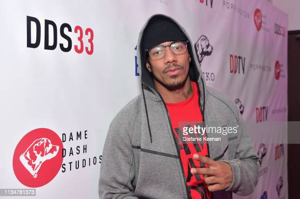 Nick Cannon attends Damon Dash Celebrates the Launch of Dame Dash Studios at DDS33 on April 3 2019 in Burbank California