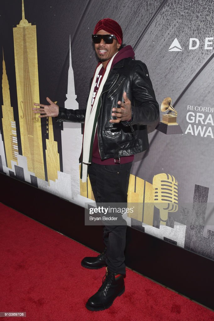 Nick Cannon attends Delta Air Lines, the Official Airline Partner of the GRAMMY Awards® and Supporter of First-Time Nominees hosted a private performance with Julia Michaels to celebrate the 60th Annual GRAMMY Awards with celebrity guests and friends, at The Bowery Hotel, January 25, 2018.