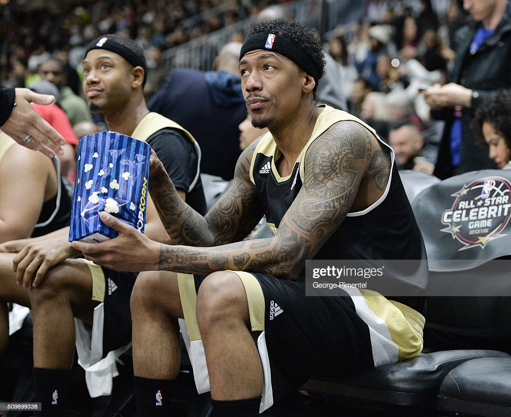 Nick Cannon attends the 2016 NBA All-Star Celebrity Game at Ricoh Coliseum on February 12, 2016 in Toronto, Canada.