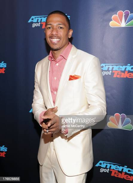 Nick Cannon attends the America's Got Talent Post Show Red Carpet at Radio City Music Hall on August 14 2013 in New York City