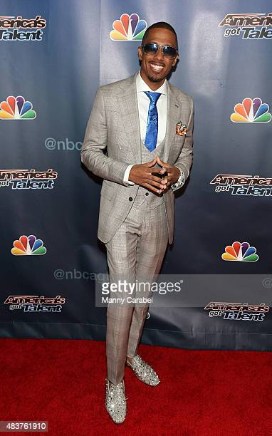 Nick Cannon attends the 'America's Got Talent' PostShow Red Carpet Event at Radio City Music Hall on August 12 2015 in New York City