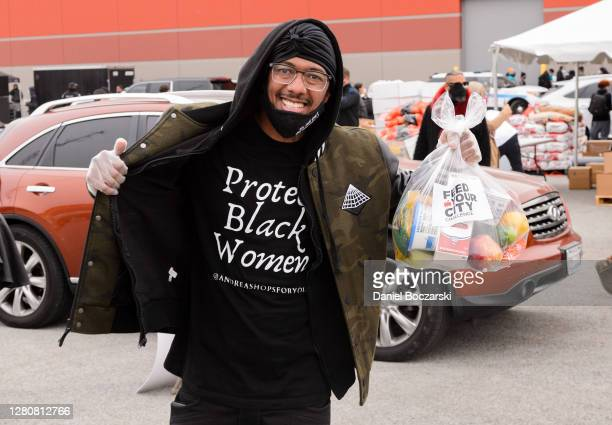 Nick Cannon attends the Feed Your City Challenge COVID-19 relief event on October 17, 2020 in Chicago, Illinois.