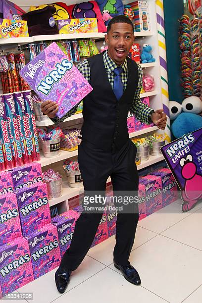 Nick Cannon attends the 'NERDS Unite' antibullying event to benefit STOMP Out Bullying held at Dylan's Candy Bar on October 3 2012 in Los Angeles...