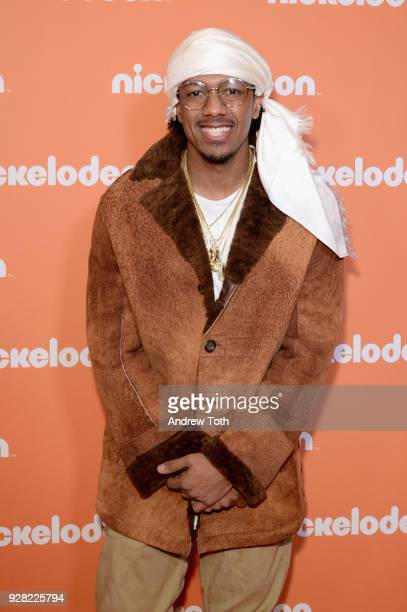 Nick Cannon attends the Nickelodeon Upfront 2018 at Palace Theatre on March 6 2018 in New York City