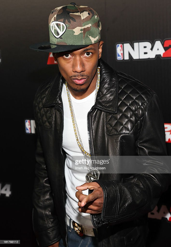 Nick Cannon attends the premiere party for the NBA2K14 video game at Greystone Mansion on September 24, 2013 in Beverly Hills, California.