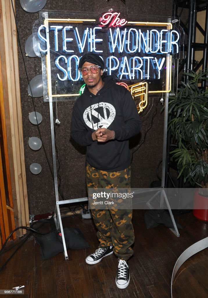 Nick Cannon attends The Stevie Wonder Song Party at The Peppermint Club on May 9, 2018 in Los Angeles, California.