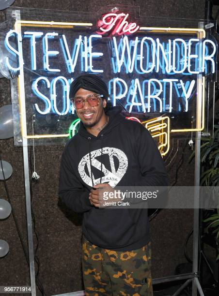Nick Cannon attends The Stevie Wonder Song Party at The Peppermint Club on May 9 2018 in Los Angeles California