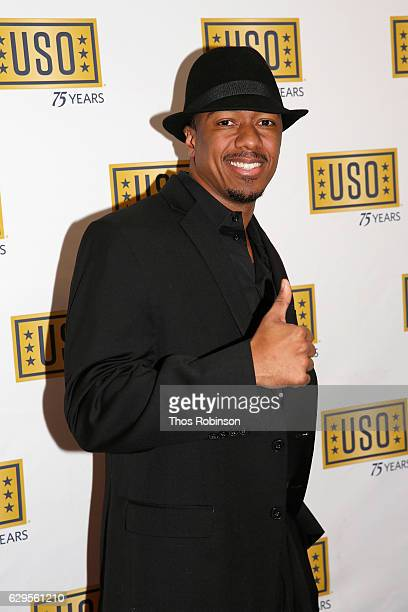Nick Cannon attends the USO 75th Anniversary Armed Forces Gala Gold Medal Dinner at Marriott Marquis Times Square on December 13 2016 in New York City
