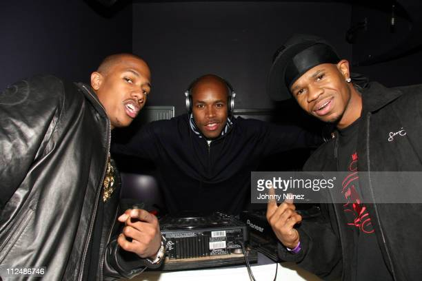 Nick Cannon DJ DNice and Chamillionaire during Birthday Party for Music Publisher Ethiopia Habtemariam at Bed in New York City New York United States