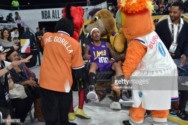 Nick Cannon during the NBA AllStar Celebrity Game 2018 presented by Ruffles at Verizon Up Arena at LACC on February 16 2018 in Los Angeles California