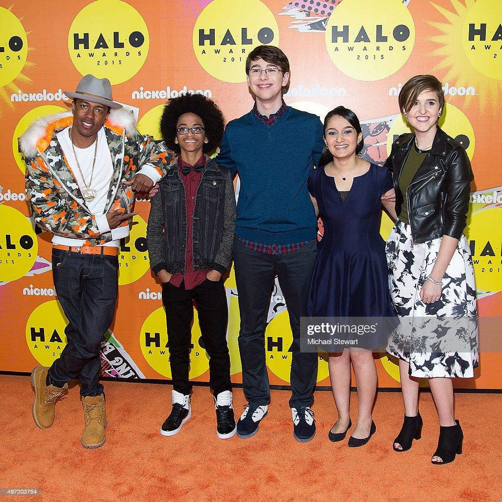 Nick Cannon, Joshua Williams, Ethan Cruikshank, Ruchita Zaparde and Riley Gantt attend the 2015 Halo Awards at Pier 36 on November 14, 2015 in New York City.
