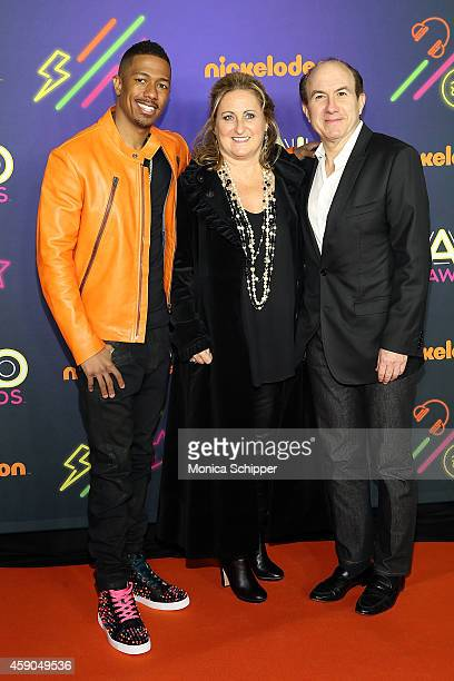 Nick Cannon Nickelodeon President Cyma Zarghami and Viacom CEO Philippe Dauman attend the 2014 Nickelodeon HALO Awards at Pier 36 on November 15 2014...