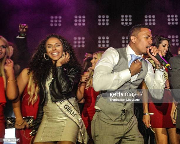 Nick Cannon performs at The Maxim Superbowl Party on January 31 2015 in Scottsdale Arizona