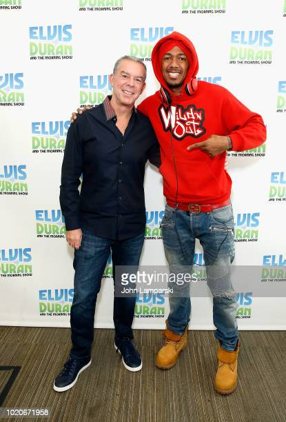 Nick Cannon visits 'The Elvis Duran Z100 Morning Show' at Z100 Studio on August 21 2018 in New York City