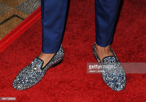 Nick Cannon shoe detail attends the America's Got Talent season 11 live show at Dolby Theatre on August 23 2016 in Hollywood California