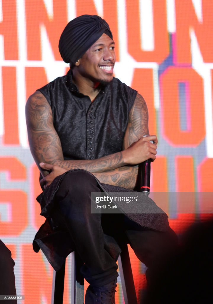 Nick Cannon speaks during VAN JONES WE RISE TOUR powered by #LoveArmy at Hollywood Palladium on July 26, 2017 in Los Angeles, California.