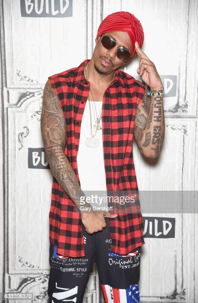 Nick Cannon visits Build Series to discuss his new single Hold On and other projects at Build Studio on January 31 2017 in New York City