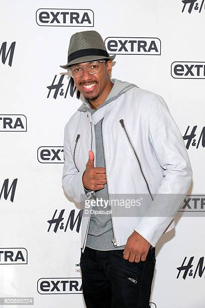 Nick Cannon visits Extra at their New York studios at HM in Times Square on November 2 2016 in New York City