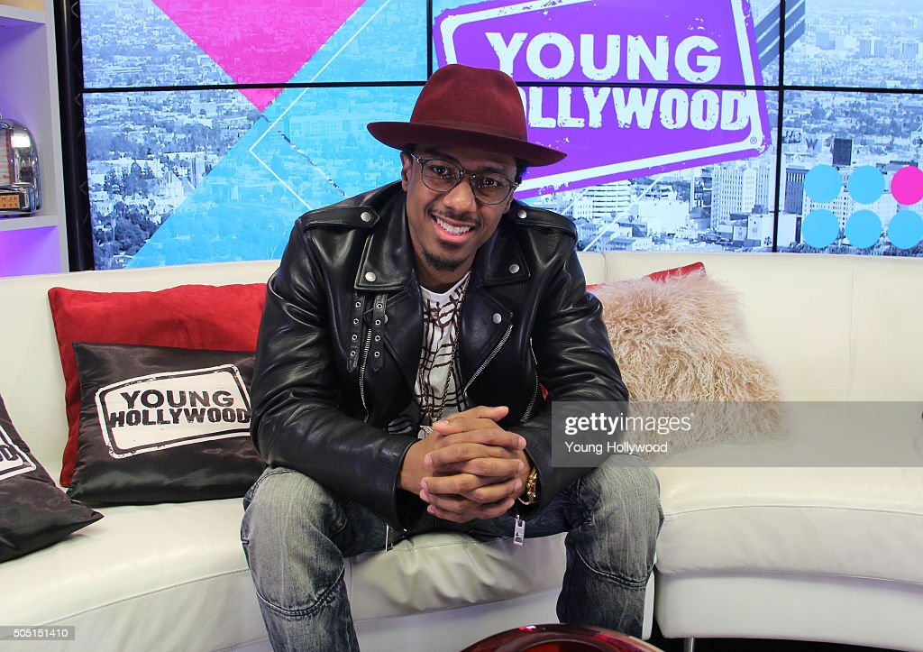 Nick Cannon Visits Young Hollywood Studio