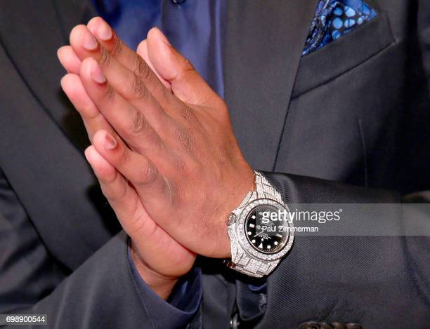 Nick Cannon watch detail at the 18th Annual Big Brothers Big Sisters Of NYC Casino Jazz Night at Cipriani 42nd Street on June 20 2017 in New York City