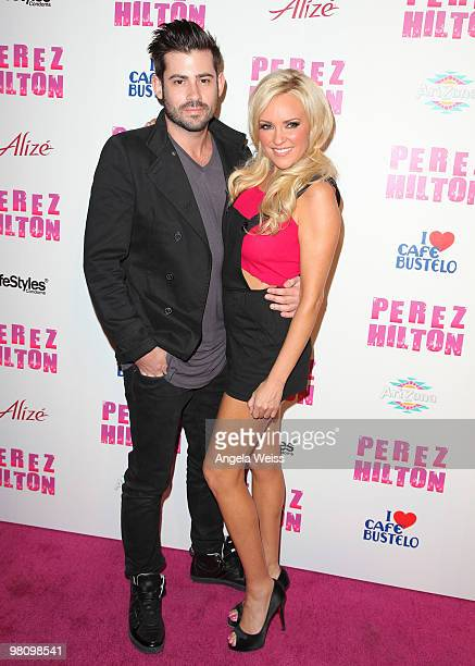 Nick Carpenter and Bridget Marquardt attend Perez Hilton's 'CarnEvil' 32nd birthday party at Paramount Studios on March 27 2010 in Los Angeles...