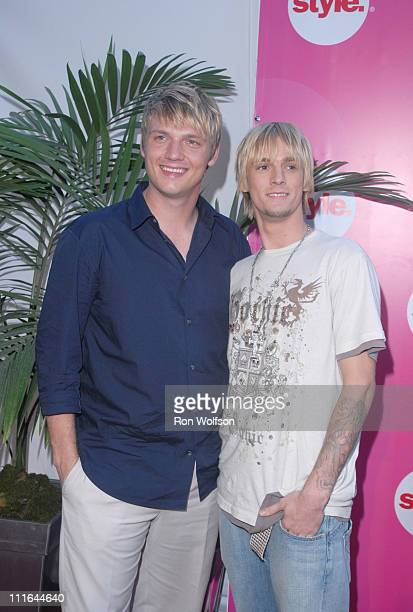 Nick Carter and Aaron Carter during E and STYLE Networks' TCA Summer Press Tour July 11 2006 at Ritz Carlton in Pasadena California United States