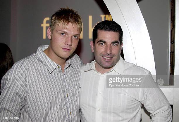 Nick Carter and Brian Robinson during The Launch Party for the Sexy New Fragrances FCUK HIM and FCUK HER at LQ in New York City New York United States