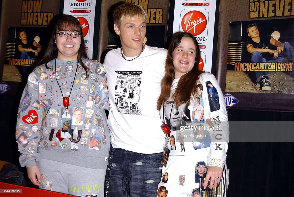 Nick Carter Promoting his new CD 'Now Or Never!' at the Virgin Records