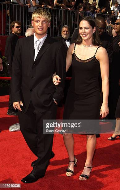 Nick Carter and guest during 2002 ESPY Awards Arrivals at The Kodak Theater in Hollywood California United States