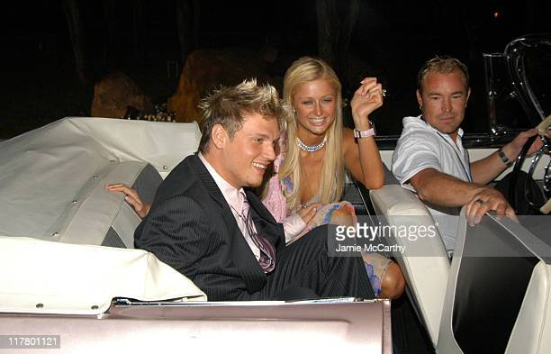 Nick Carter and Paris Hilton at the PS2 Estate during PS2 Estate Day 1 The Launch Party of Paris Hilton's New Record Label Heiress Records in...