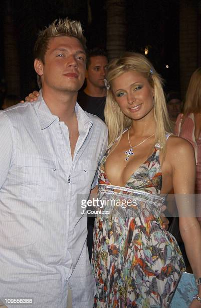 Nick Carter and Paris Hilton during 2004 Dancestar Music Awards Arrivals at Bay Front Park Amphitheater in Miami Florida United States