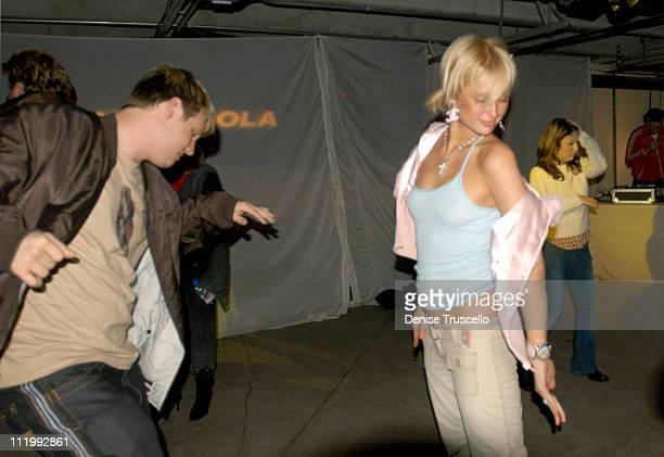 Nick Carter and Paris Hilton during 2004 Park City Xbox Hosts Pandora's Tomorrow Party at the Motorola Lodge at Motorola Lodge in Park City Utah...