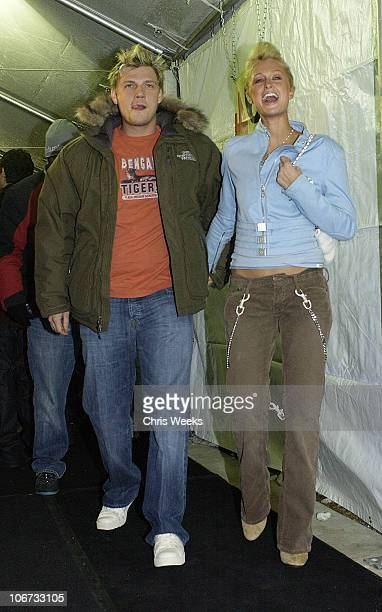 Nick Carter and Paris Hilton during 2004 Sundance Film Festival Screening of The Butterfly Effect at Eccles Theatre in Park City Utah United States